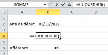 Comment calculer la différence entre deux dates dans Excel?
