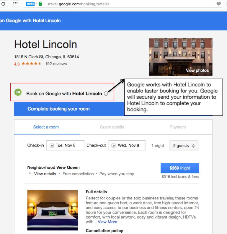Comment confirmer la réservation d'hôtel?